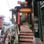 景色は絶景。屋上で美味しいお茶をいただきました/ 阿妹茶館(あめおちゃ) 台湾・九份