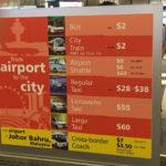 シンガポールチャンギ空港から市内までのタクシー料金