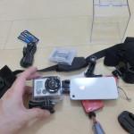 GoPro HD Hero 2 レンズ保護カバーをイスのキャップで作成してみた。いい感じ。
