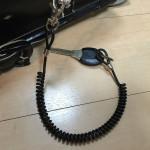子供のランドセルに のびーるキーチェーン ワイヤーループ/鍵(カギ)用ストラップ、チェーン